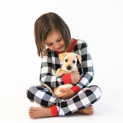 Little Sleepies Buffalo Plaid Two-Piece Bamboo Pajama Set