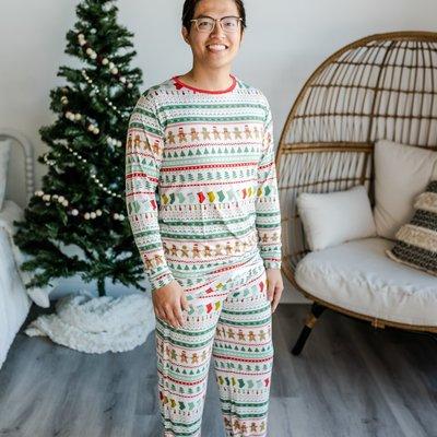 Little Sleepies Fair Isle Two-Piece Men's Bamboo Pajama Set