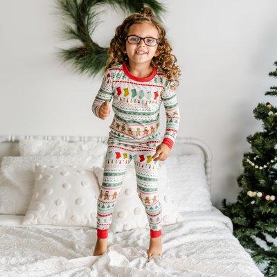Little Sleepies Fair Isle Two-Piece Bamboo Children's Pajama Set