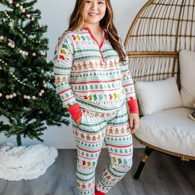 Little Sleepies Fair Isle Two-Piece Women's Bamboo Pajama Set