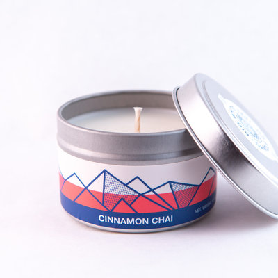 Big White Yeti Cinnamon Chai 6 oz tin candle