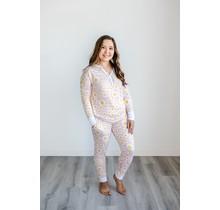 Daisies Two-Piece Women's Bamboo Pajama Set