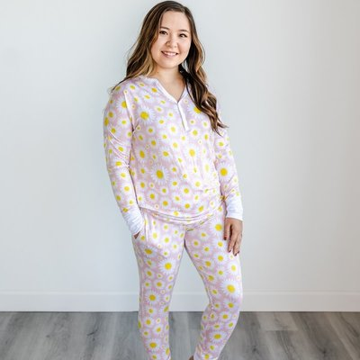 Little Sleepies Daisies Two-Piece Women's Bamboo Pajama Set