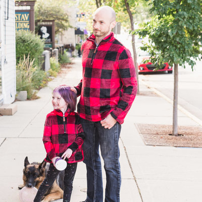 Child Plaid Pullover