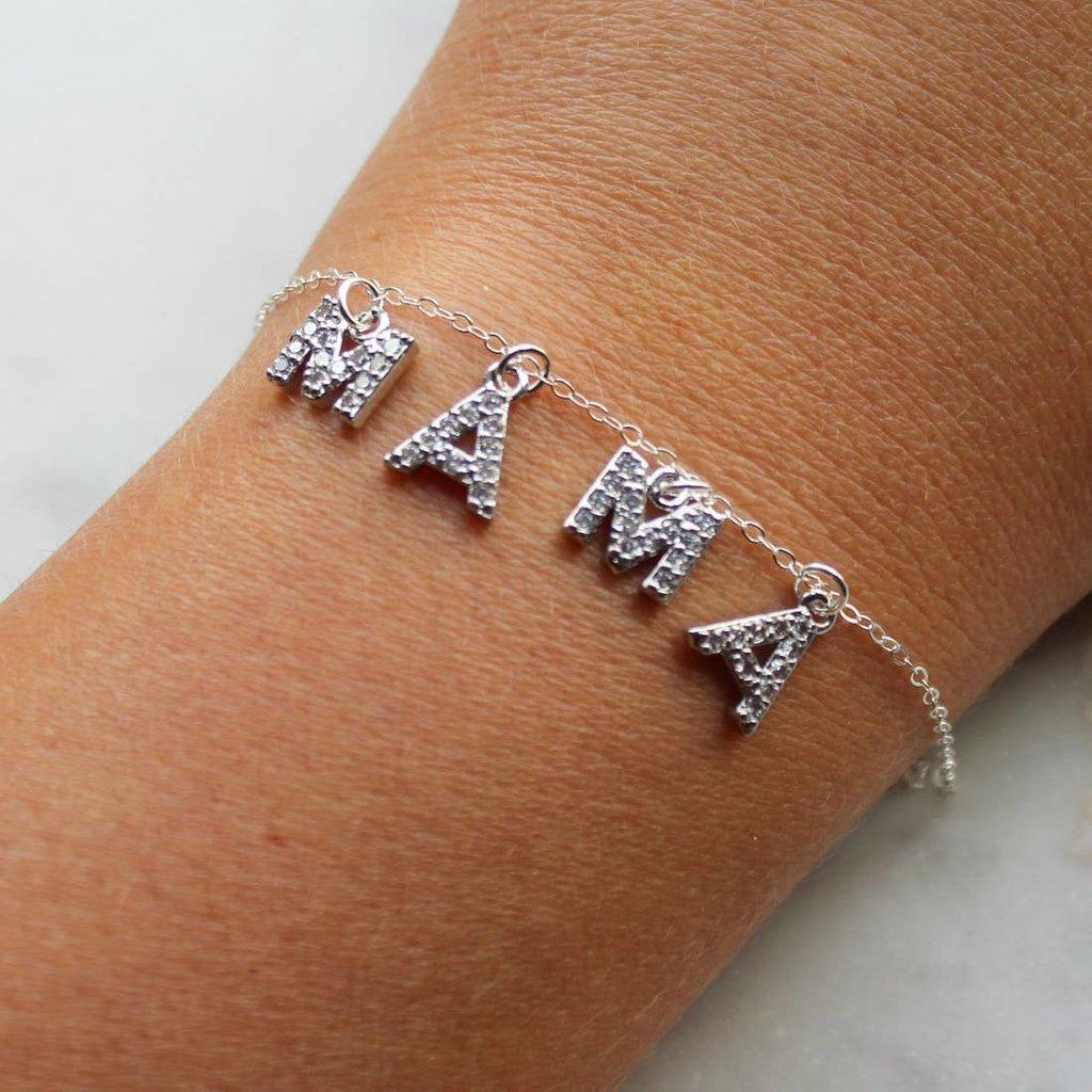 Laalee Jewelry Crystal Mama Bracelet Silver