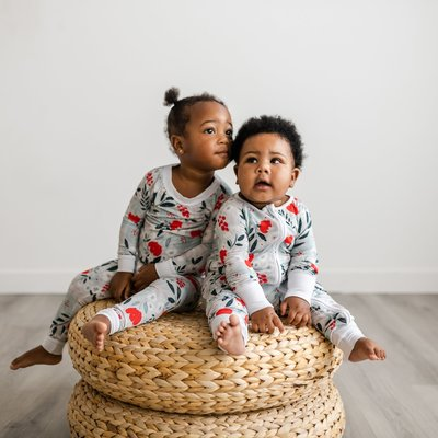 Little Sleepies Winter Florals Two-Piece Bamboo Pajama Set