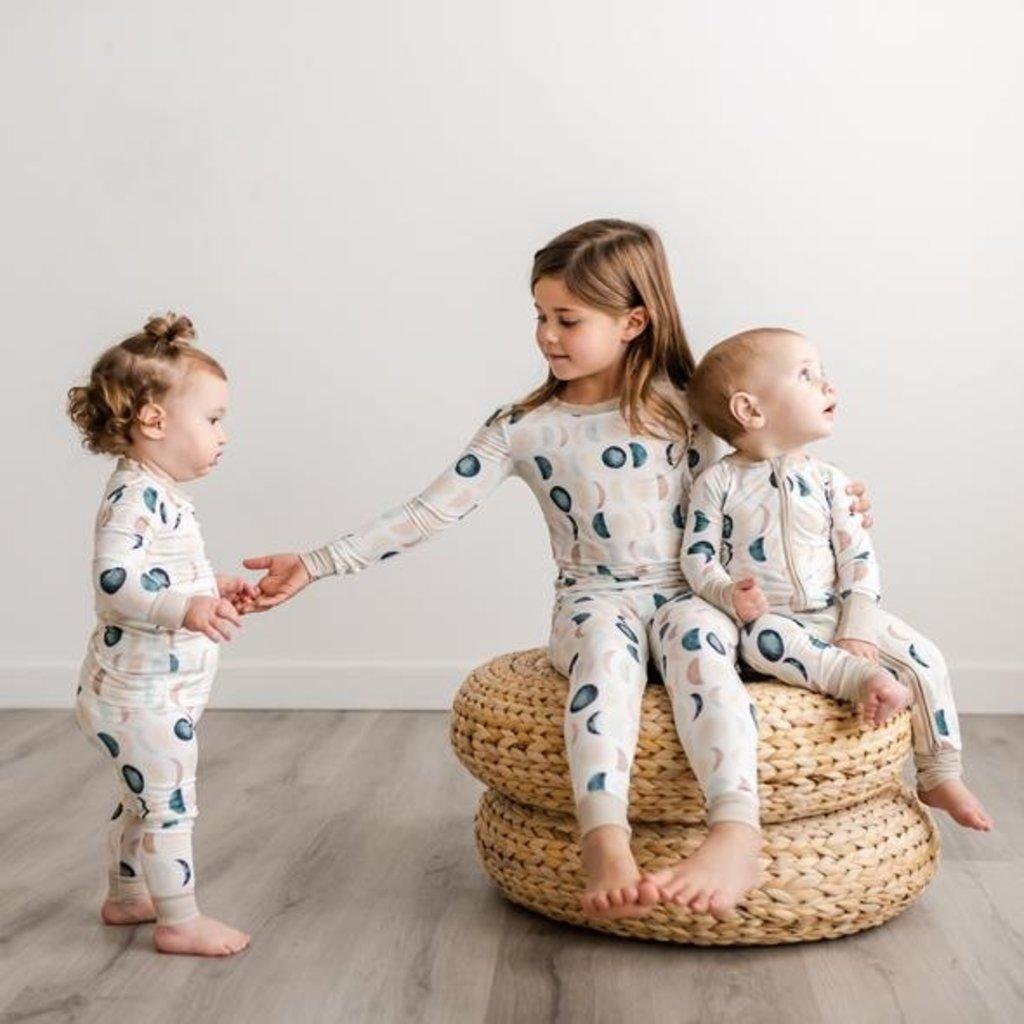Little Sleepies Luna Neutrals Two-Piece Bamboo Pajama Set for Kids
