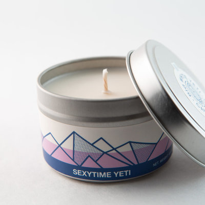 Big White Yeti Sexytime Yeti 6 oz tin candle