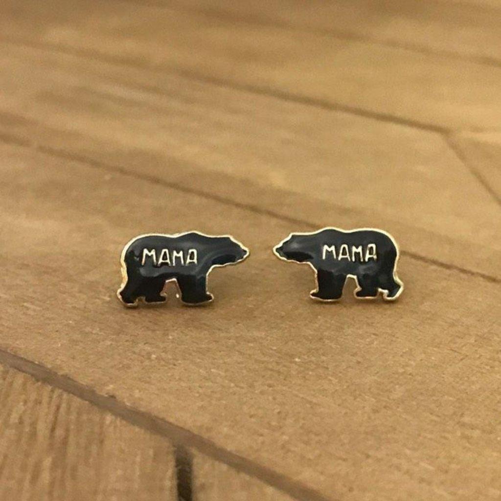 Prep Obsessed Mama Bear Stud Earrings