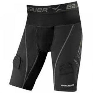 BAUER Bauer NG Premium Lockjock Compr. Jock Short Black - Sr.