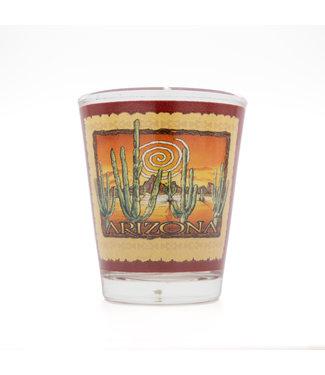 Desert Star Swirl Sunset Shot Glass 2 oz