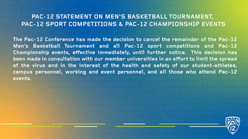 Pac-12 Men's Basketball Tournament Announcement