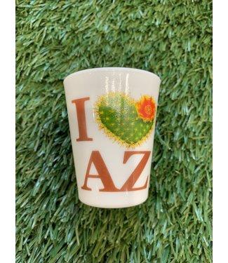 I Love Arizona Shot Glass