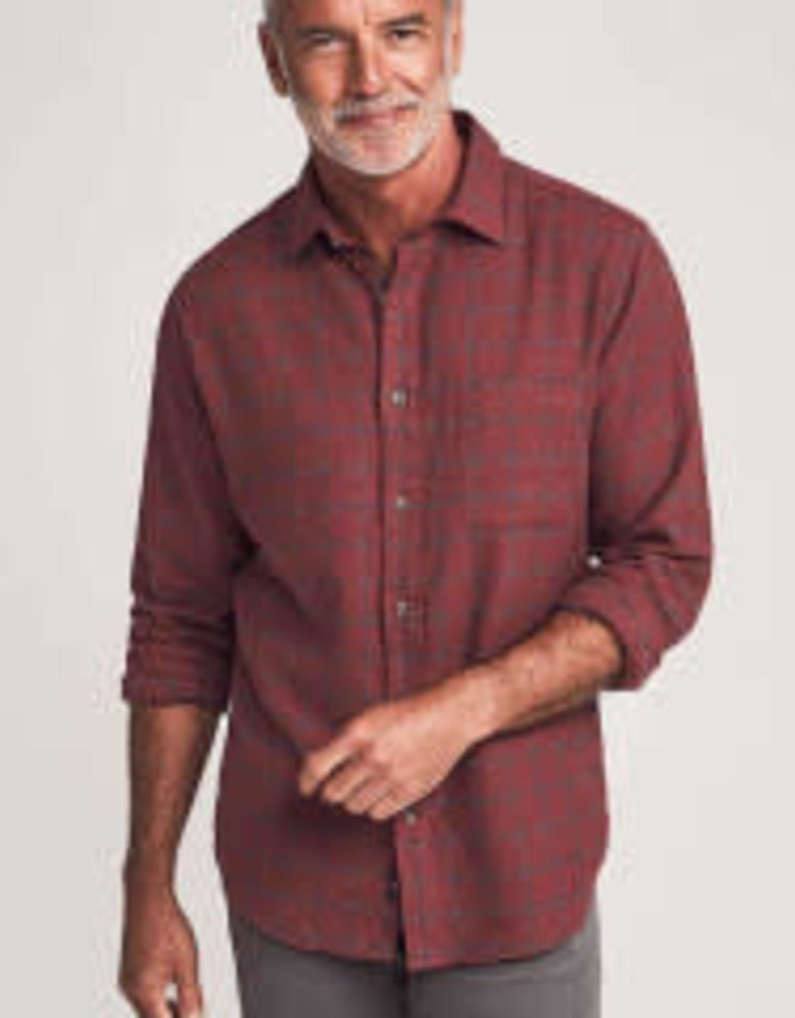 Faherty BD Everyday Shirt Lodge Check Red
