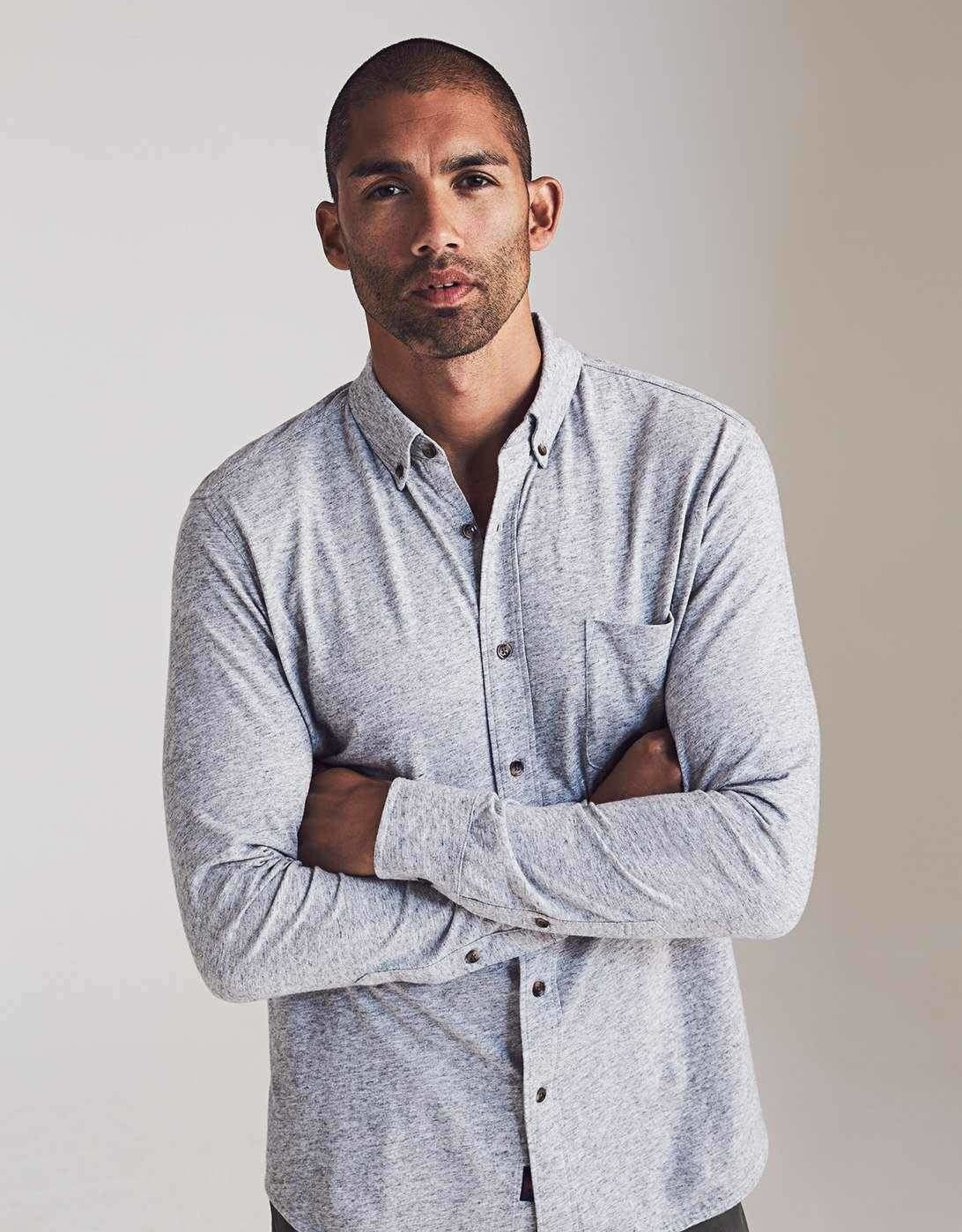 Faherty Luxe Heather Knit Shirt