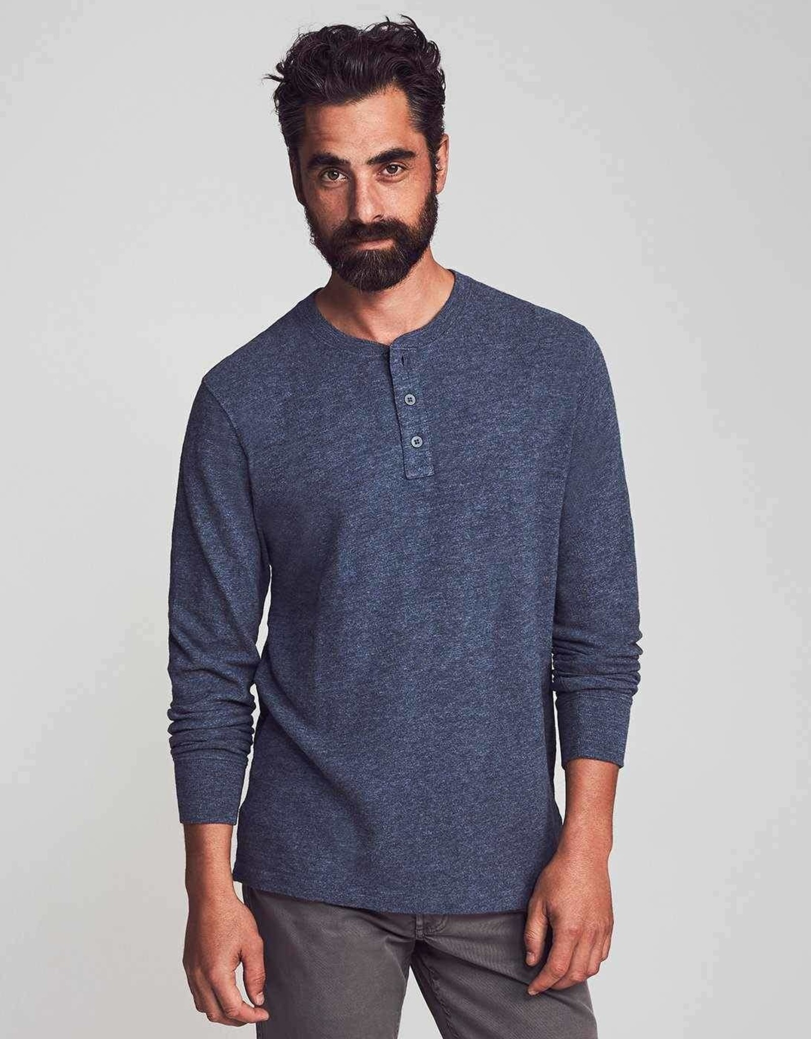 Faherty Slub Cotton Henley