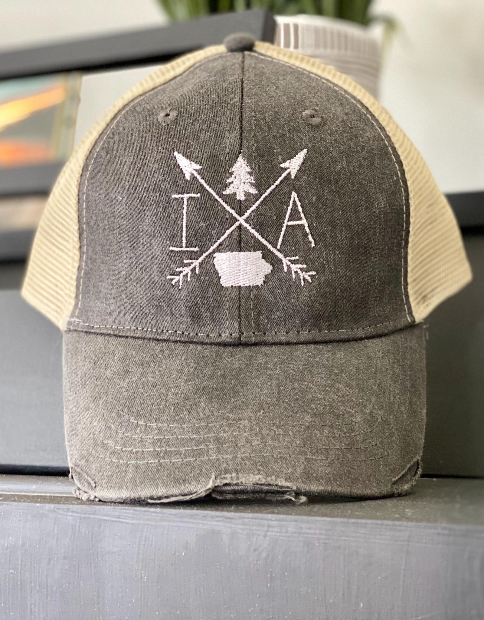 Gracie Designs Patched Hat - Iowa Arrow