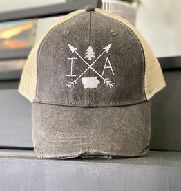 Gracie Designs Patched Hat - Iowa Arrow
