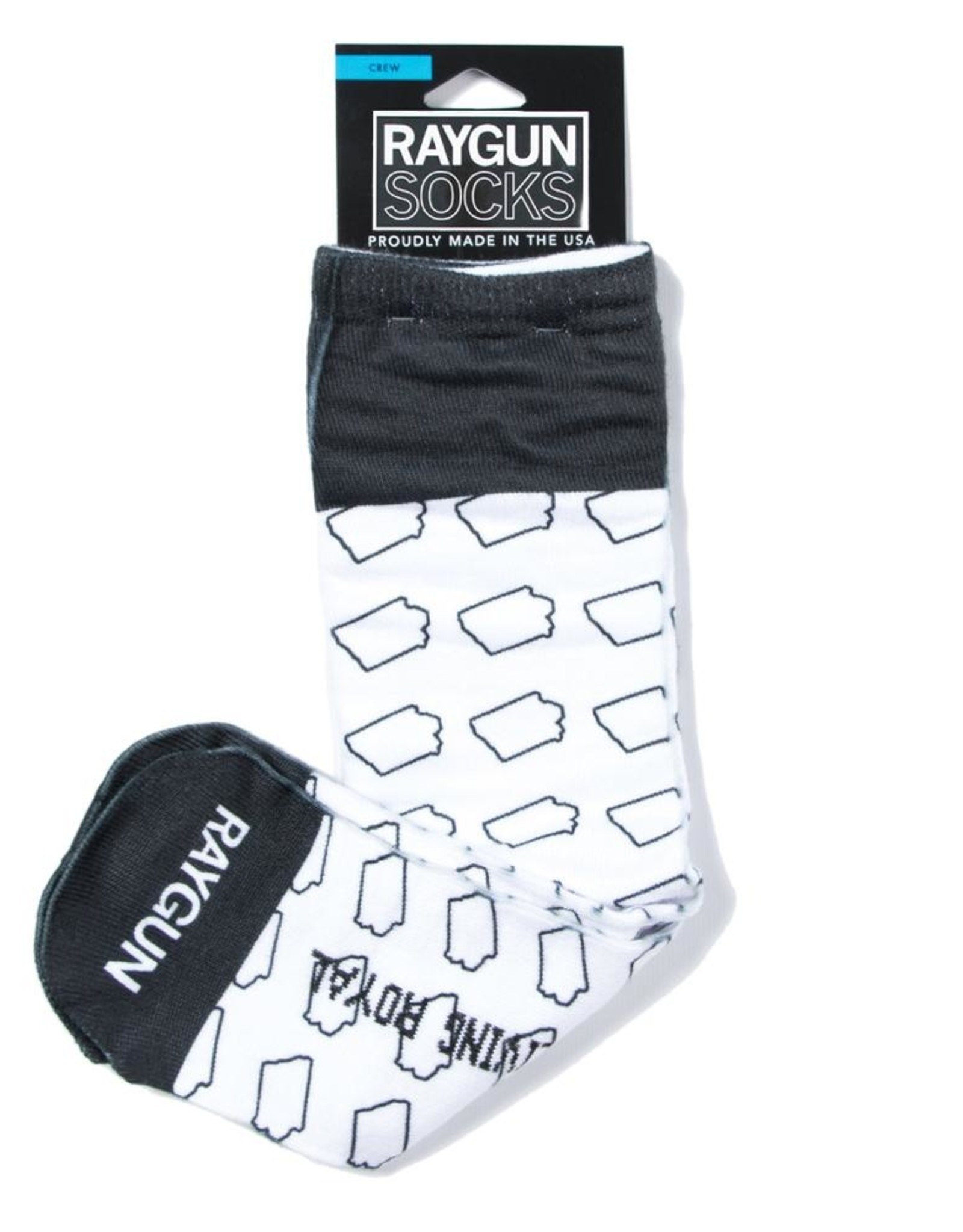 Raygun Outline Iowa Socks