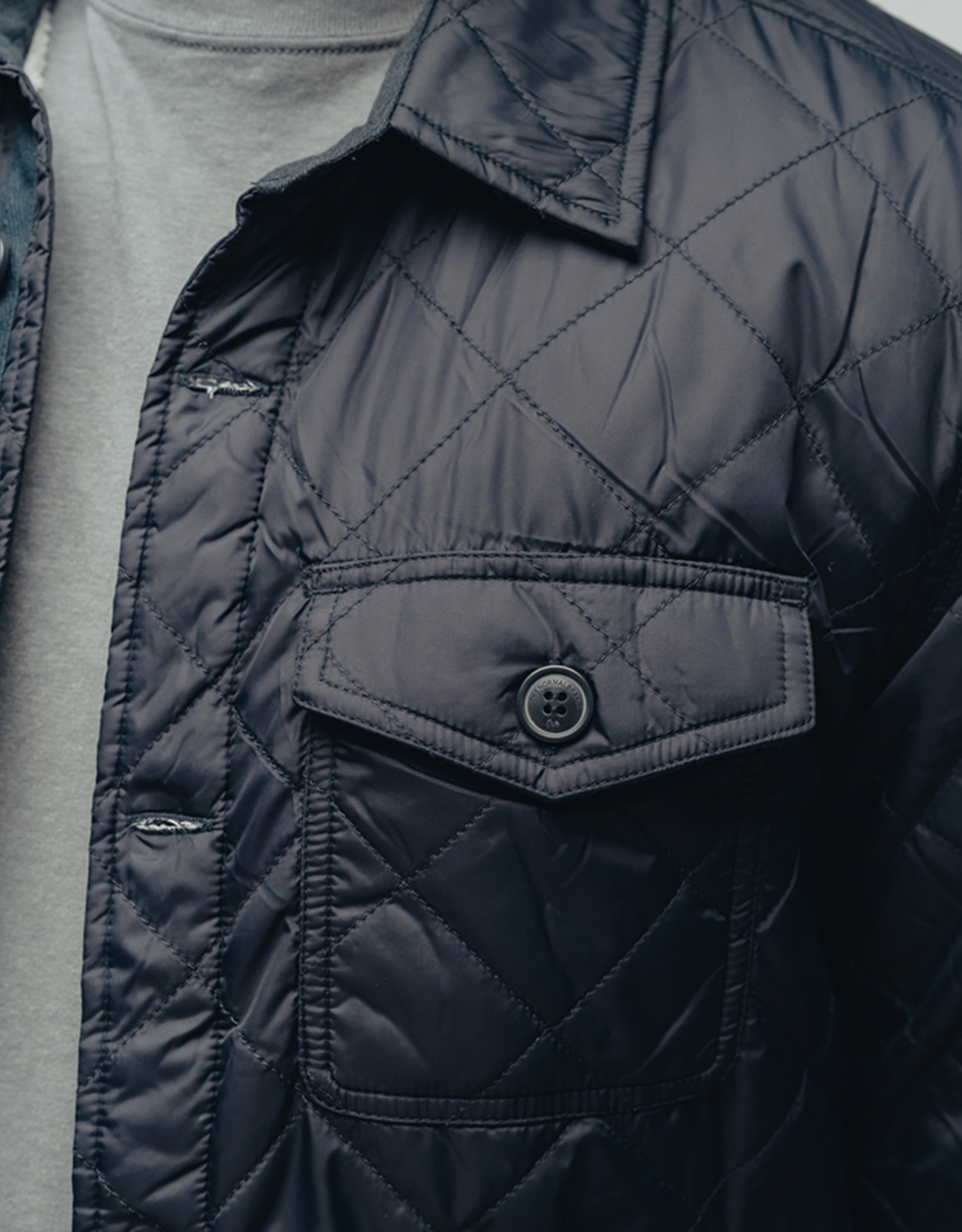 The Normal Brand Quilted Sherpa Lined Shacket