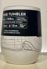Well Told Hometown Maps Insulated Wine Tumbler