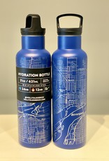 Well Told Topography Map 21 OZ Insulated Bottle