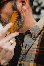 Private Stache Wood Beard Comb