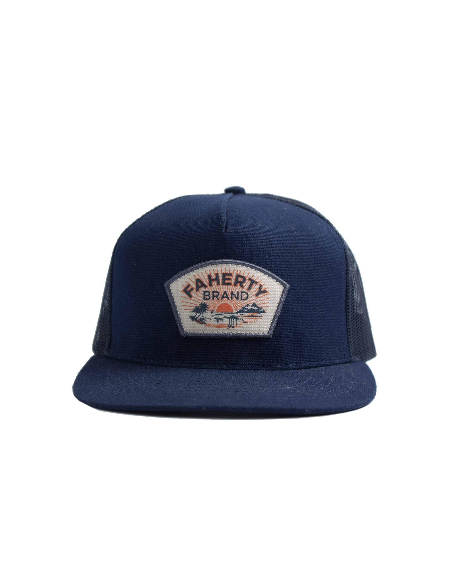 Faherty 5 Panel Trucker Hat