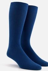 Ribbed Petrol Dress Socks