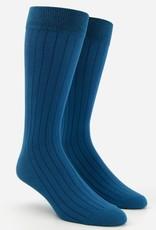 Wide Ribbed Dress Socks