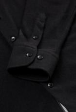 Long Sleeve Knit Black Solid Jersey Fleece