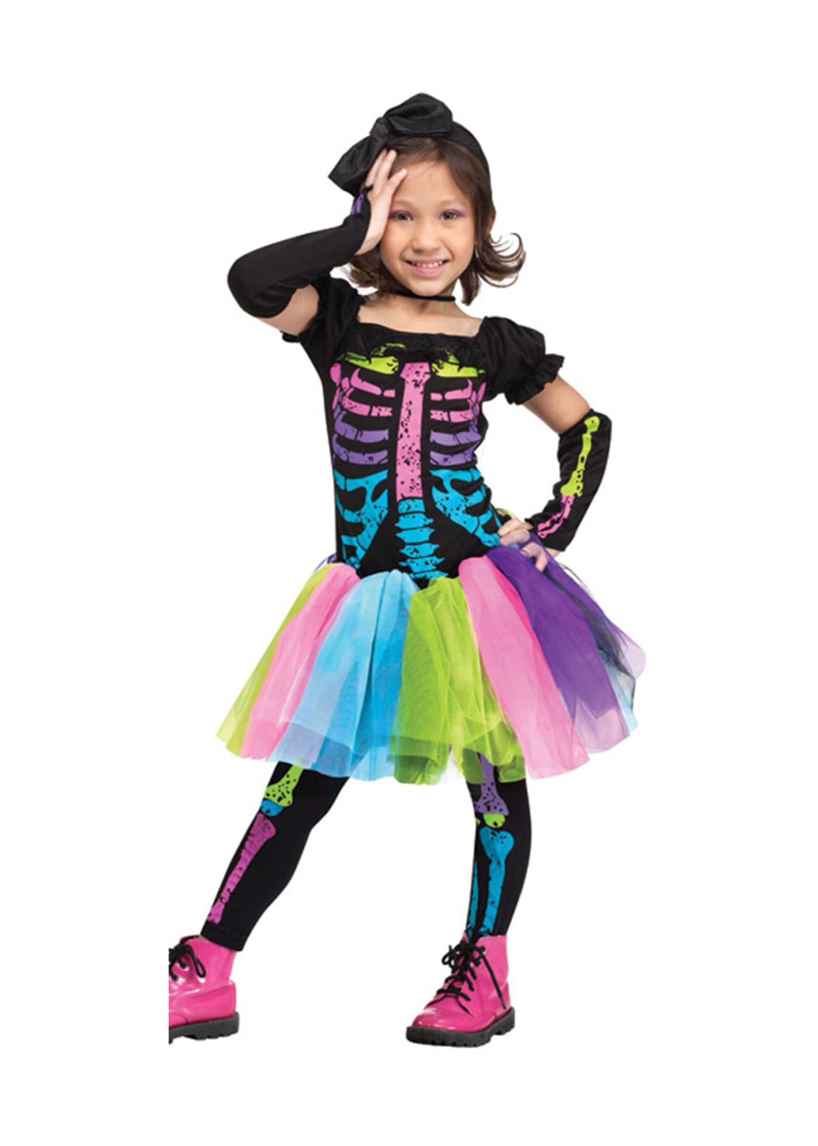 FUN WORLD Funky Punk Skeleton Costume - Toddler