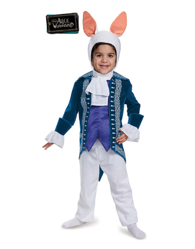 White Rabbit Alice Wonderland Costume Toddler Party On