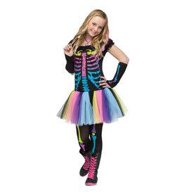 Funky Punk Skeleton Costume - Junior