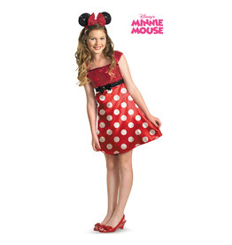 Red Minnie Tween Costume - Junior