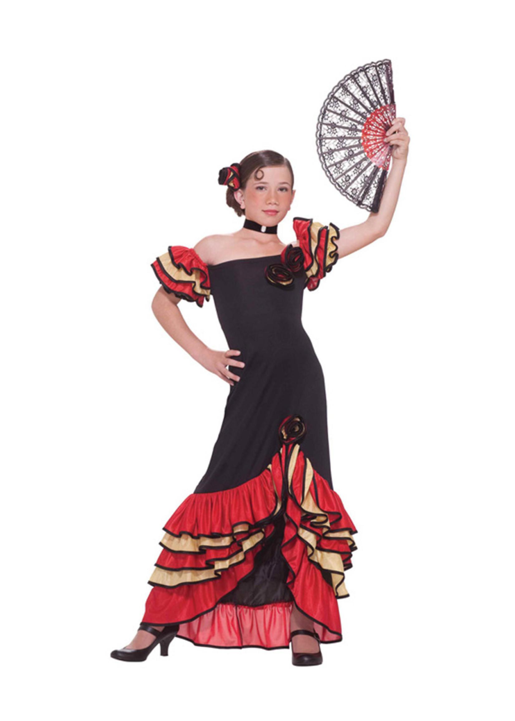Flamenco Dancer Costume - Girls