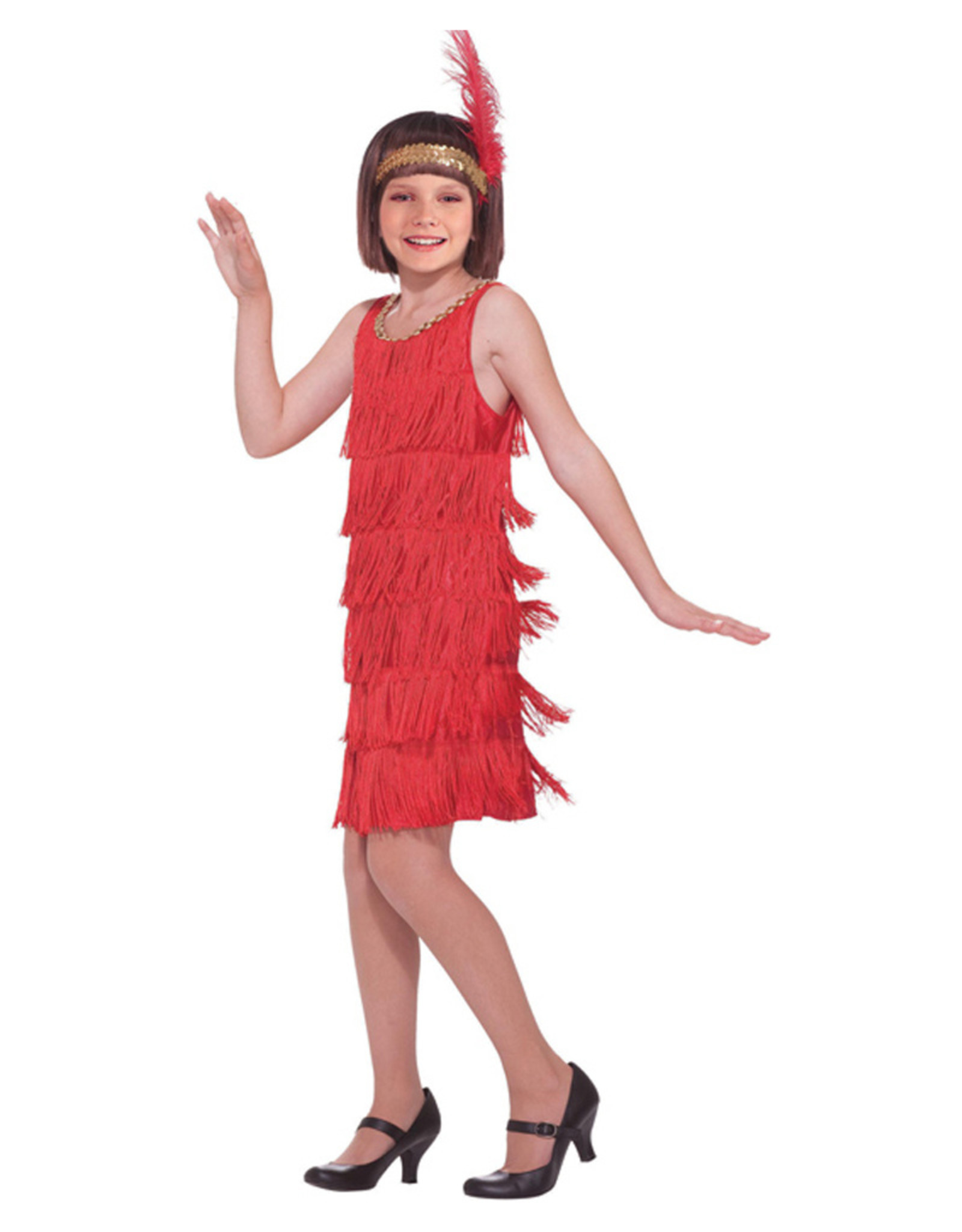 Red Flapper Costume - Girls