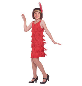 Red Flapper Costume - Girls