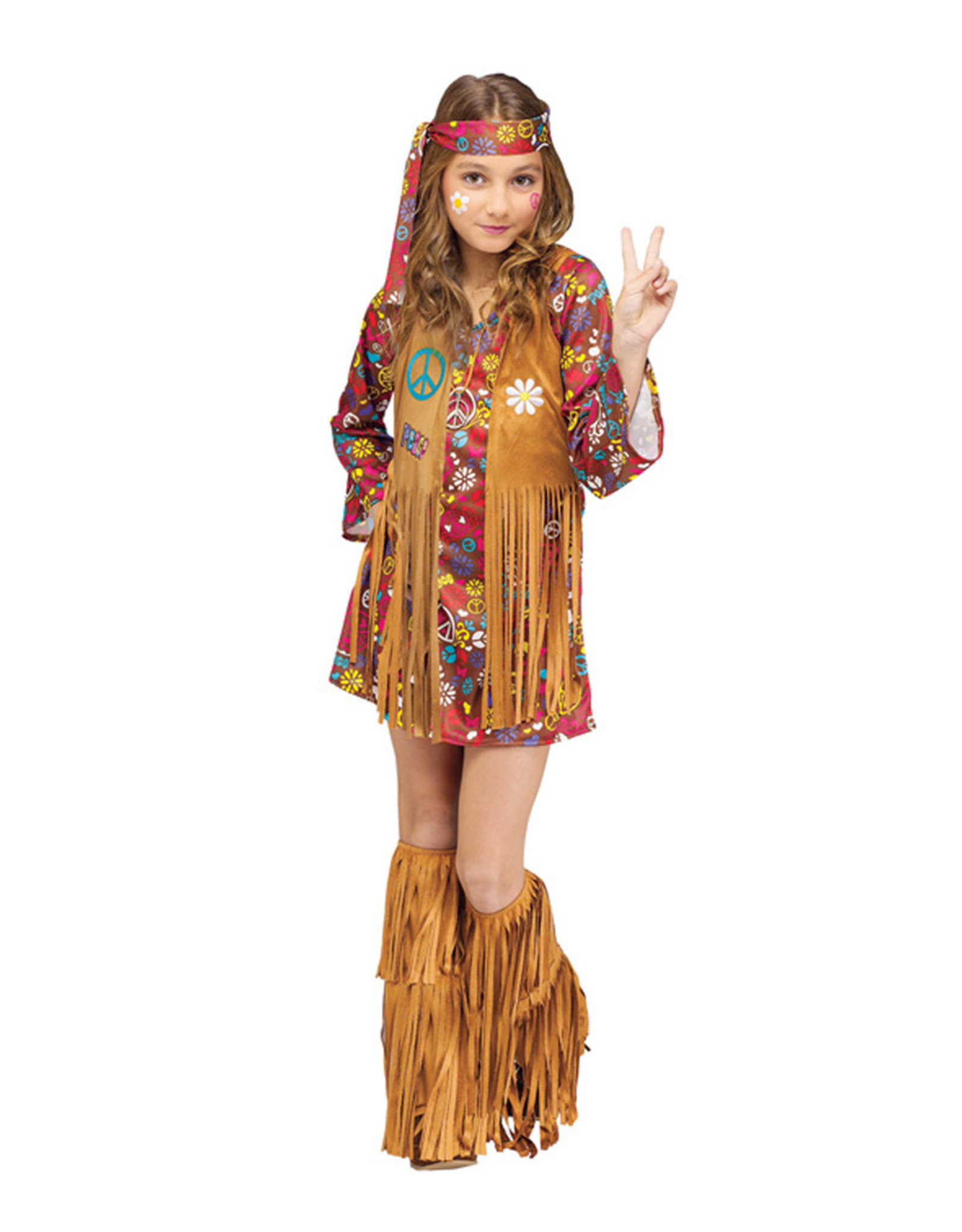 Peace & Love Hippie Costume - Girls