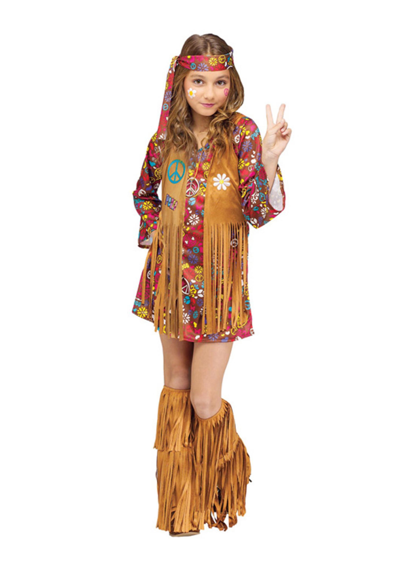 Peace & Love Hippie Costume - Girls