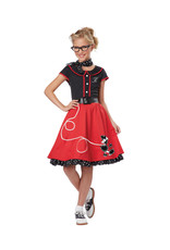 50's Sweetheart Red Costume - Girls
