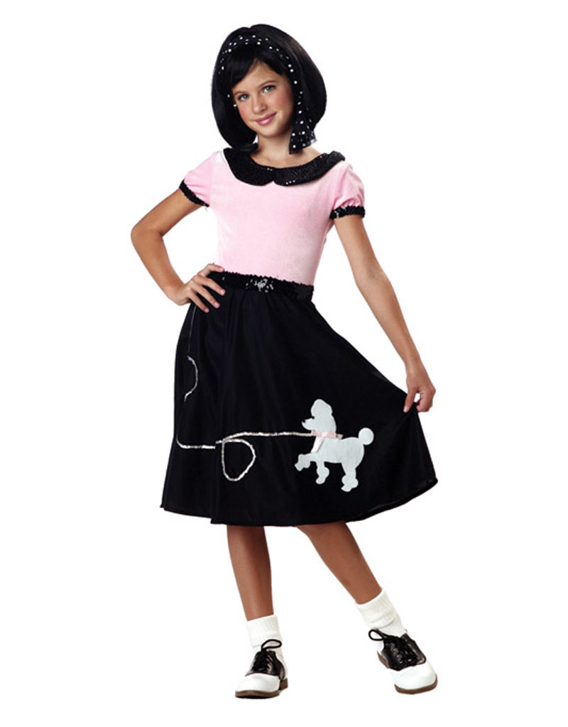 50's Hop w/ Poodle Skirt Costume - Girls