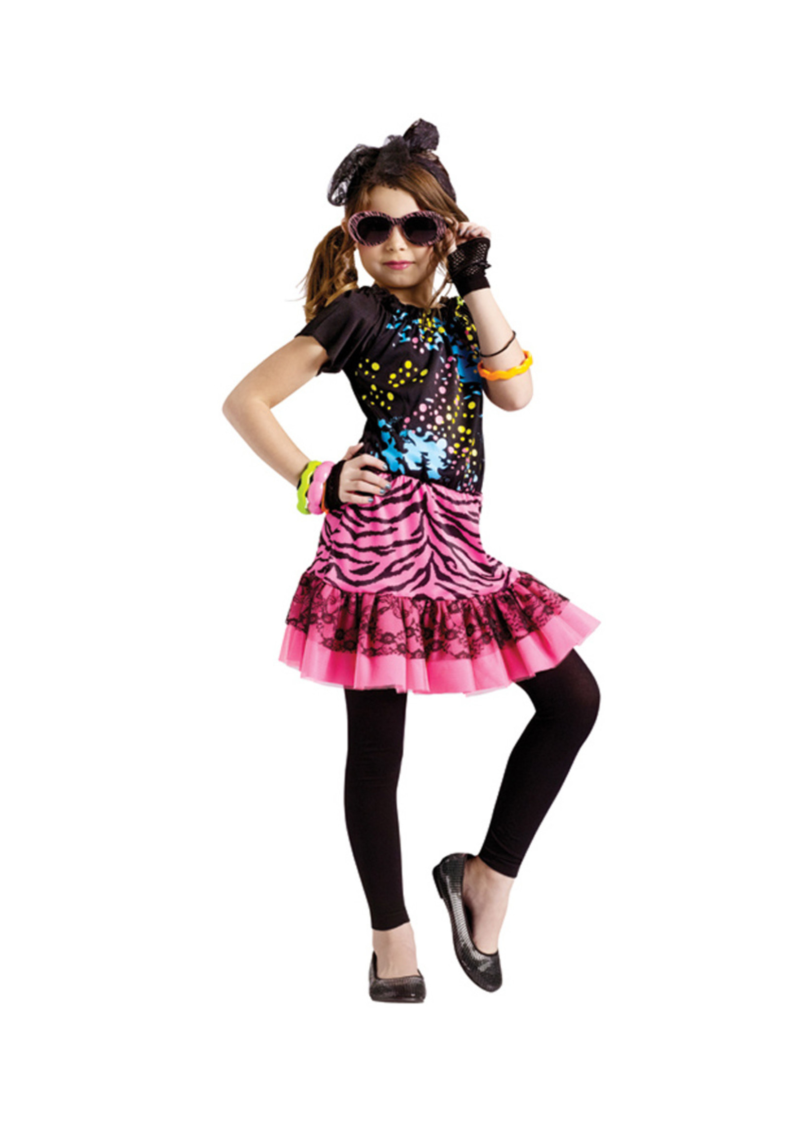 80's Pop Child Costume - Girls