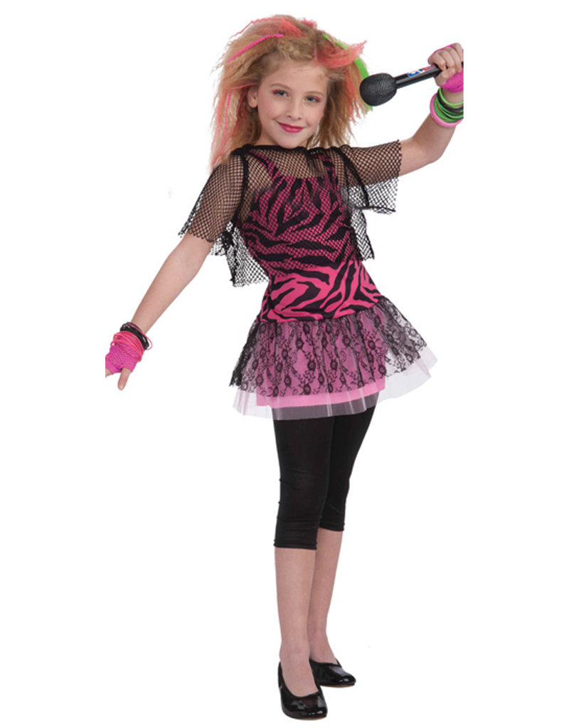 80's Rock Star Costume - Girls