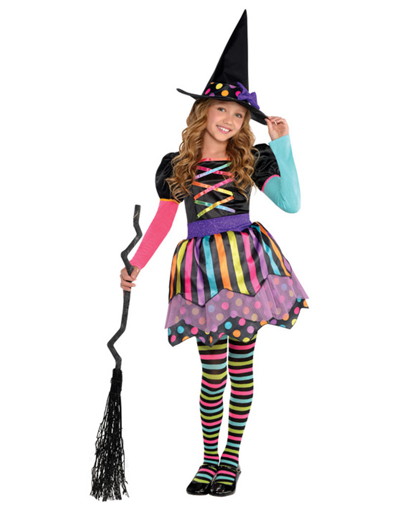 Miss Matched Witch Costume - Girls
