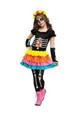 Dia De Los Muertos Costume - Girls