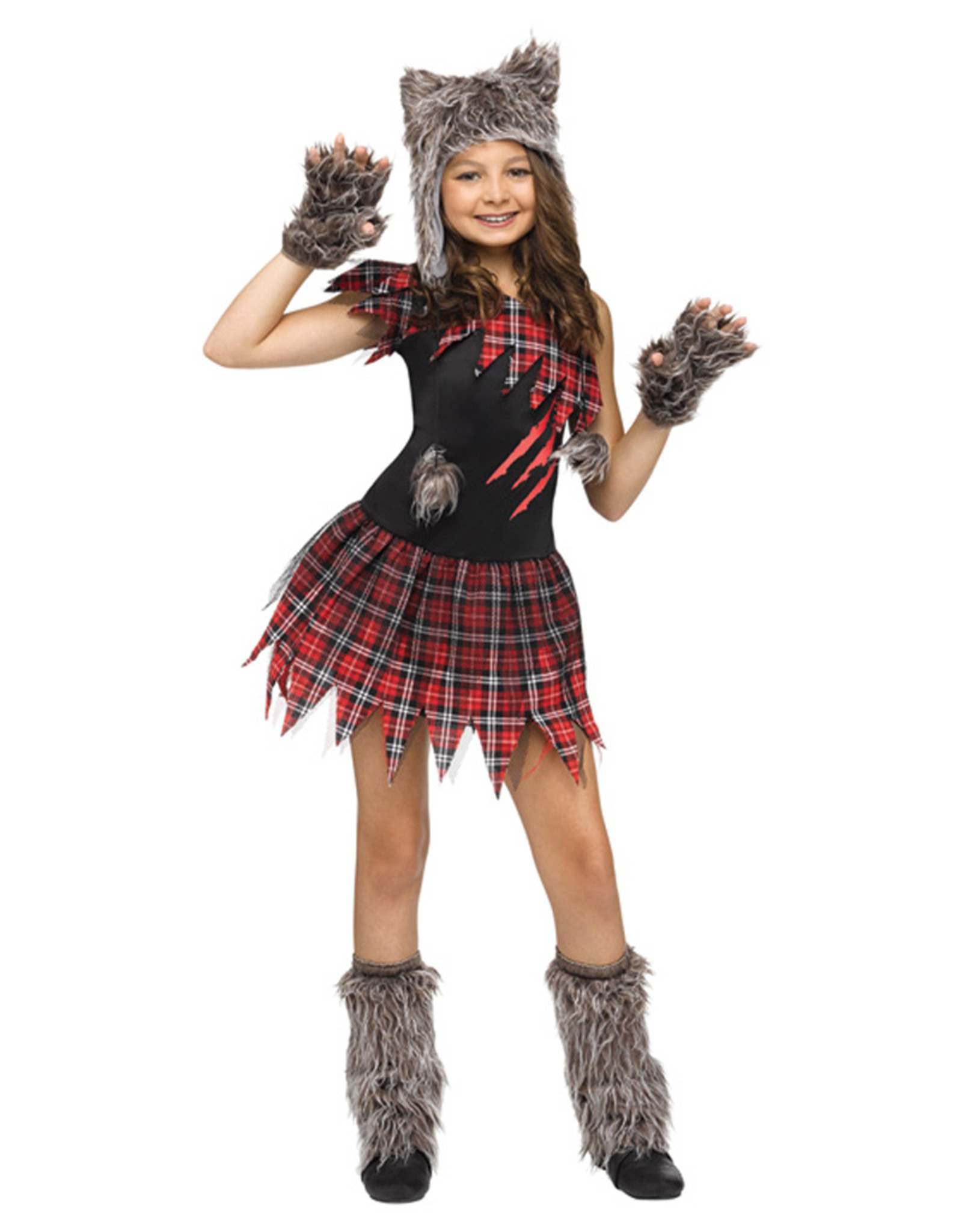 FUN WORLD Wild Wolfie Costume - Girls
