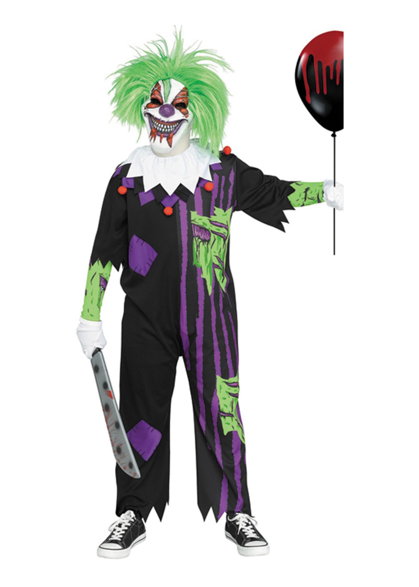 Zombie Clown Costume - Boys