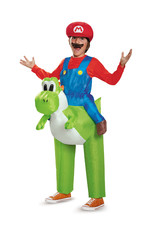 Mario Riding Yoshi Inflatable Costume - Boys