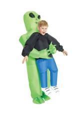 AFG MEDIA Inflatable Alien Pick-Up Costume - Boys